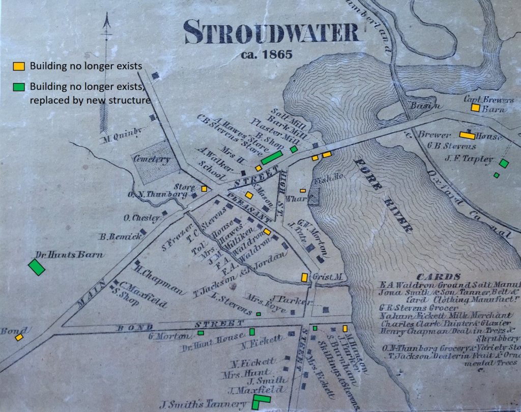 Stroudwater Map with Building Annotations