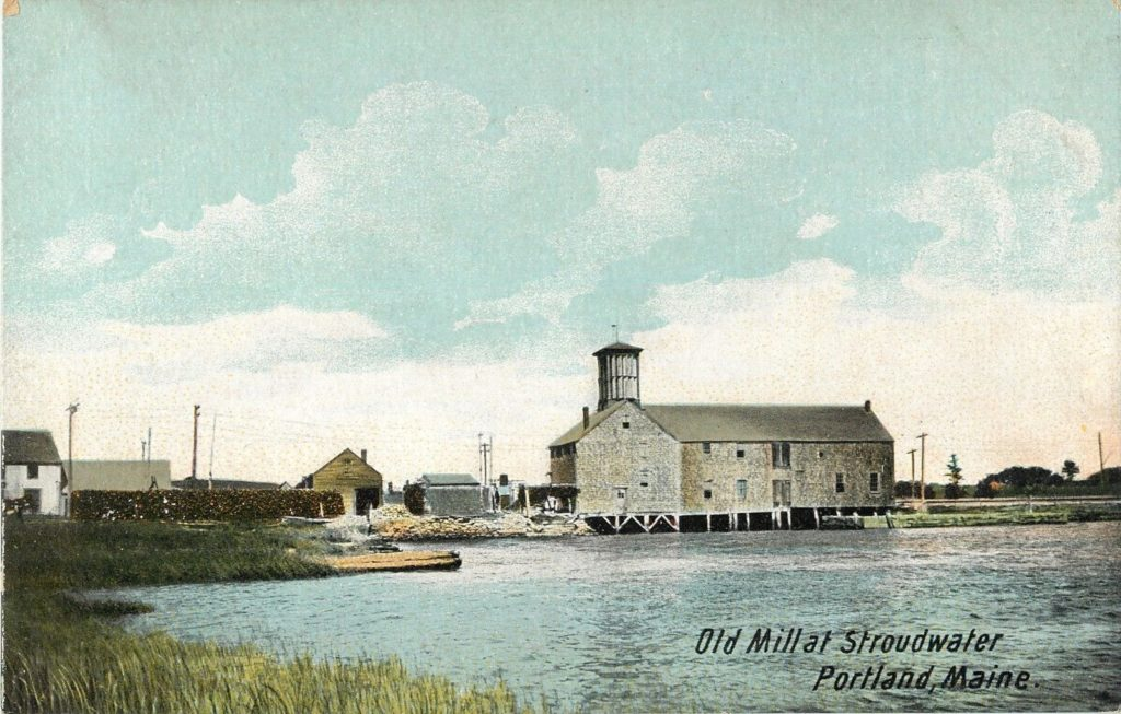 Postcard of Old Mill At Stroudwater, Portland Maine