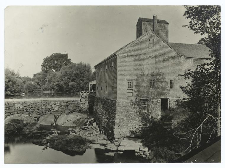 Tidal Mill at Stroudwater, Maine. 1860 - 1920.