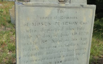 Moses Pearson, 1697 - 1778. Eastern Cemetery, Portland, Maine.