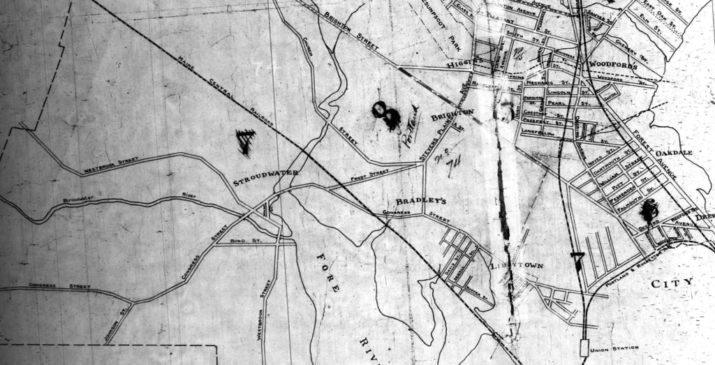Stroudwater, Maine. 1910 Census Enumeration District Map.