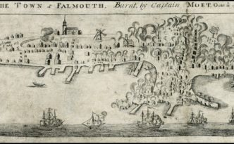 The Town of Falmouth, Burnt by Captain Moet, October 18, 1775